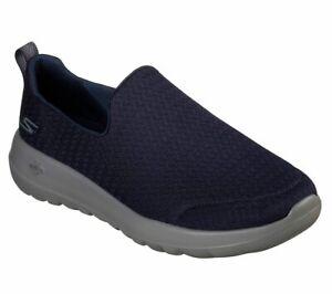 54635-Navy-Skechers-shoes-Men-039-s-Memory-Foam-Comfort-Slip-On-Casual-Mesh-Go-Walk