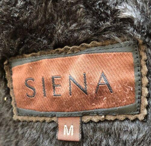 Shearling Brun Fur Medium Jakke Suede Siena Fåeskind Frakke 100 6HWAqwd