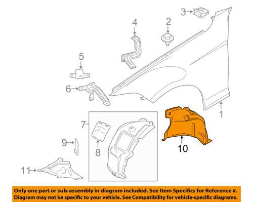 BMW OEM 16-18 M2-Rear Fender Liner Splash Shield Left 51718063033