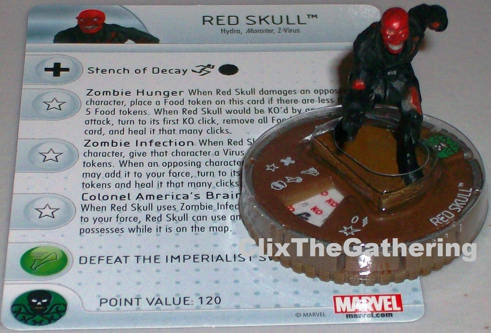 RED SKULL(ZOMBIE) Guardians of the Galaxy Marvel HeroClix Chase Rare