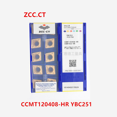 ZCC.CT 10P SCMT120408-HR YBC251 CNC Carbide Insert  Turning Insert for Steel