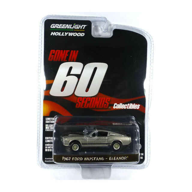 Greenlight 44742 Ford Mustang Eleanor Gris 1967-Hollywood Series 1:64 Nouveau! °
