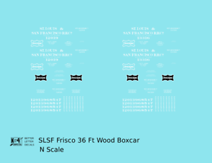 K4 N Decals SLSF Frisco 36 Ft Wood Boxcar White
