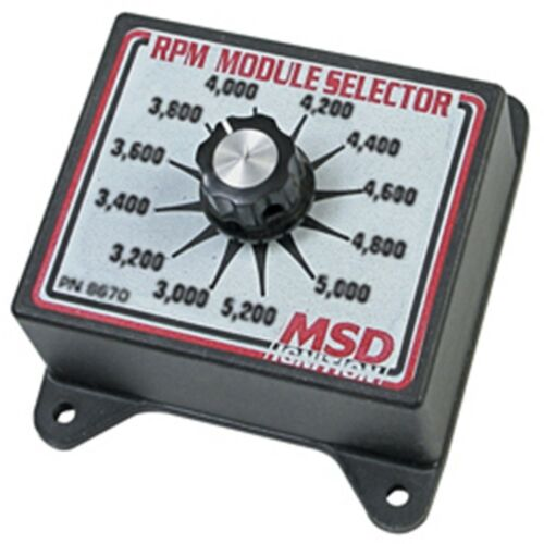 MSD Ignition 8670 RPM Rev Limiter Selector Switch 3000-5200 RPM
