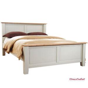 Letto provenzale legno bianco matrimoniale con doghe letti ethbb04 800 ebay - Doghe letto matrimoniale ...