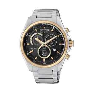 Citizen-AT2134-58E-Chronograph-Balack-Dial-w-Gold-Tone-Bezel-Wirst-Stopwatch