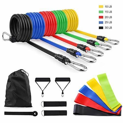 SourceDIY 16 PCS Resistance Exercise Bands Set Men Elastic Fitness Accessory