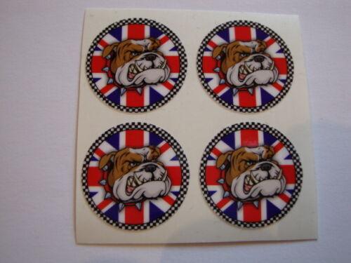 """16 BRITISH BULLDOG  CROWN GREEN BOWLS STICKERS  1/""""  LAWN BOWLS INDOOR BOWLS"""
