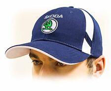 SKODA unisex Baseball cappellino Cap.100% Cotone, Blu scuro, misura regolabile