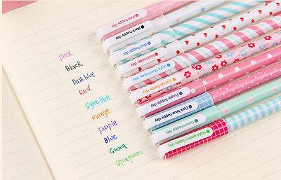 10pcs/lot Colorful 0.38mm Gel Pen Cute Pens Student Office Accessories Nice B