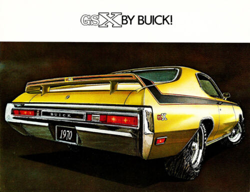 Promotional Advertising Poster 1970 Buick GSX