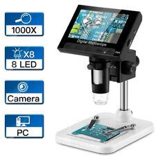 43 Lcd Digital Microscope 1000x Camera Video Microscope Usb Battery Powered