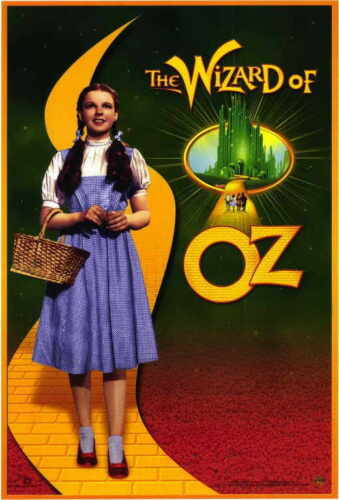 THE WIZARD OF OZ Movie POSTER 11x17 D Judy Garland Margaret Hamilton Ray Bolger