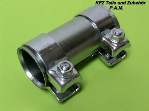 2 Auspuffschelle 50-55 x 125mm Rohrschelle Rohrverbinder Doppelschelle Auspuff