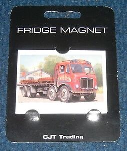 Fridge-Magnet-034-AEC-8-wheeler-034-from-picture-by-artist-Mike-Jeffries