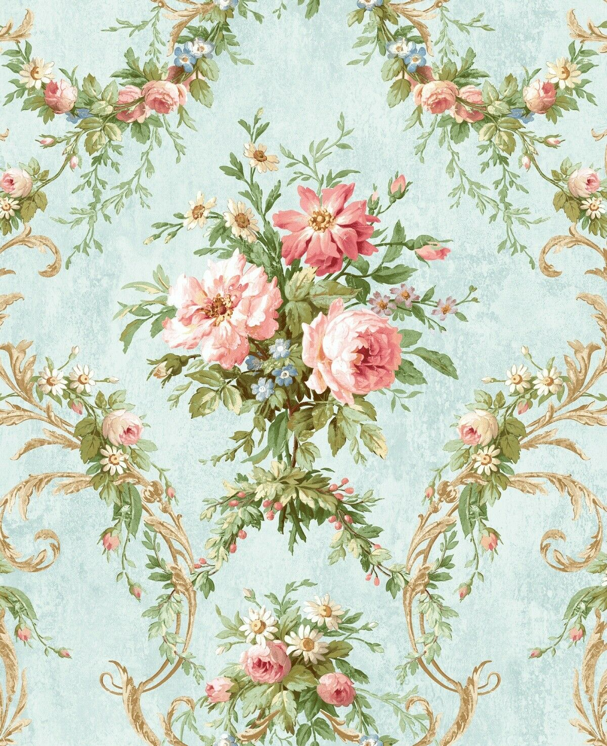 Wallpaper 56 Sq Ft Tribe Beige Modern Floral Scroll Wallpaper