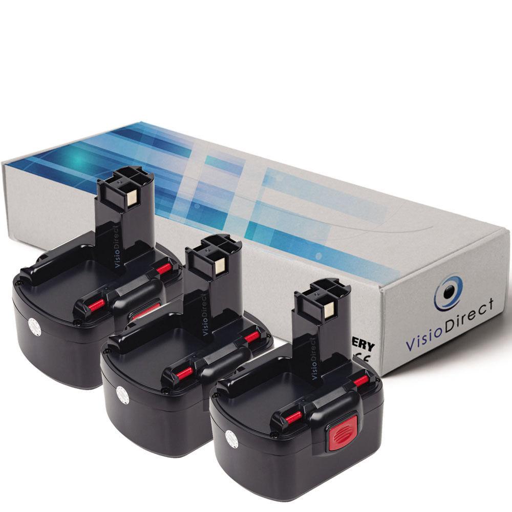 Lot de X3 batteries type 2607335375 12V 3000mAh pour Bosch - Société Française