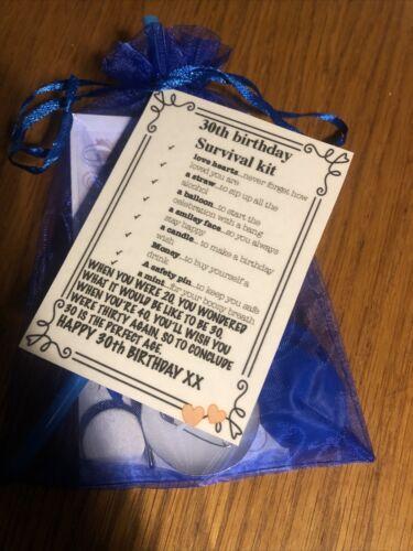 Fun cadeau unique 30th Anniversaire Kit de survie mâle