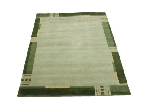 Teppich Premium Nepal fein mit Seide Handgeknüpft 200x250 cm 100 /% Wolle Grün