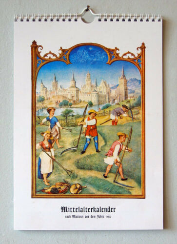 Mittelalterkalender Brevier Grimani 12 Motive Medizin Bauern Burg 1492 Venedig
