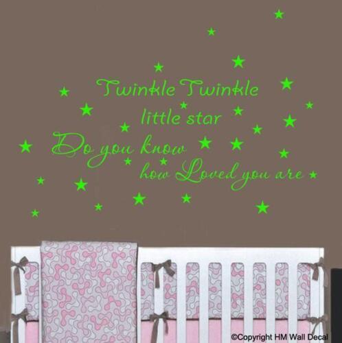 """/""""TWINKLE TWINKLE LITTLE STAR../"""" Wall Art Removable Wall Sticker for Nursery//kids"""