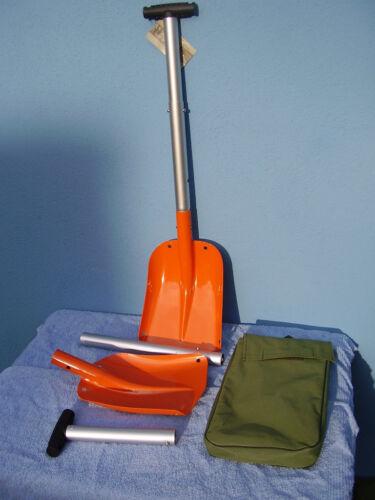 Schneeschaufel Sandschaufel Lawinenschaufel 3tlg mit Packtasche neu orange Alu