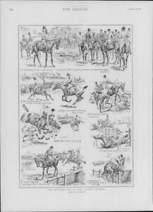 1901-Antique-Print-SPORTS-Hon-Alfred-Crasher-Illustrations-Hunting-Horses-217
