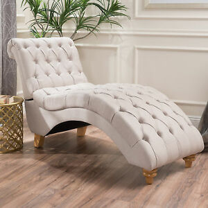 Image Is Loading Bellanca Fabric Tufted Chaise Lounge Chair