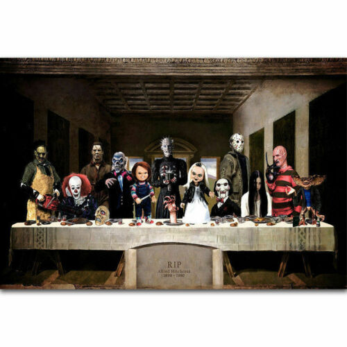G790 The Last Supper of Horror Movie Hot Film Character 24x36 Hot Poster