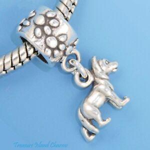 ELEPHANT .925 Solid Sterling Silver European Dangle Bead Charm euro