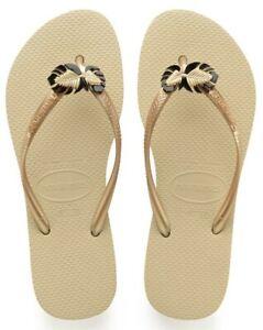Details about HAVAIANAS slim metal pin Flip Flop Sandals sand women US 910 EUR 3940