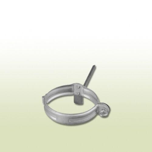 Verzinkte Fallrohrschelle DN 50 mit Schlagstift 200 mm