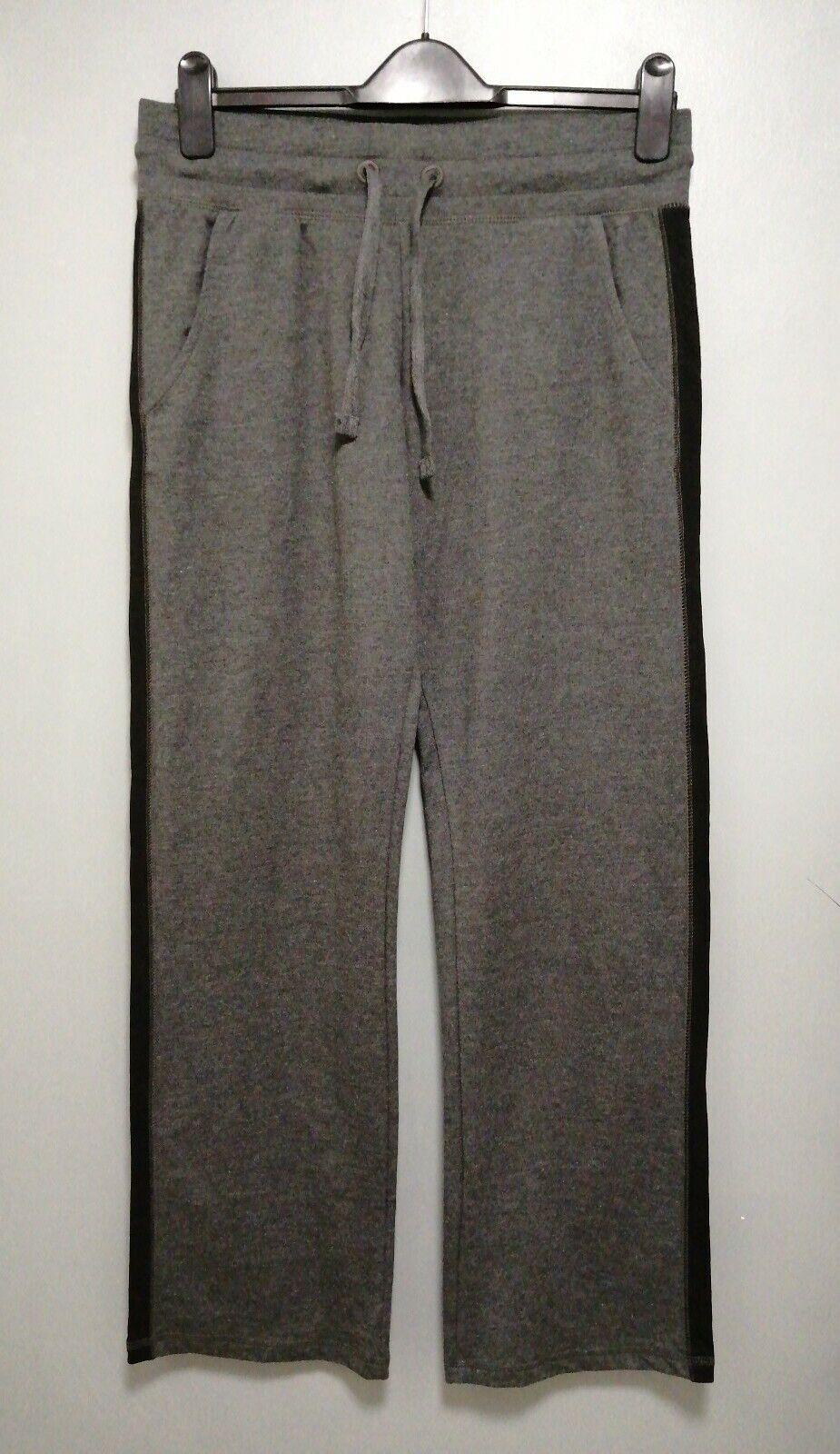 Next NX Sport Charcoal Grey with a Black Stripe Straight Leg Leggings Size 10