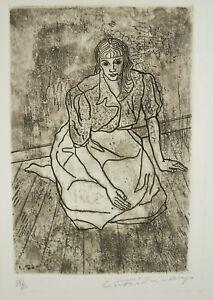 Print-Original-c1980-Num-38-80-Artist-Signature-IN-Determine