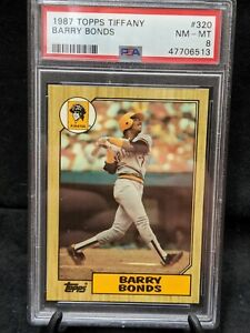 1987 TOPPS TIFFANY BARRY BONDS ROOKIE CARD RC #320 PSA 8 NM-MT