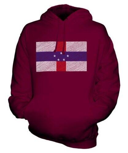 Holland Antillen Scribble Flag Unisex Kapuzenpulli Top Geschenk Fußball