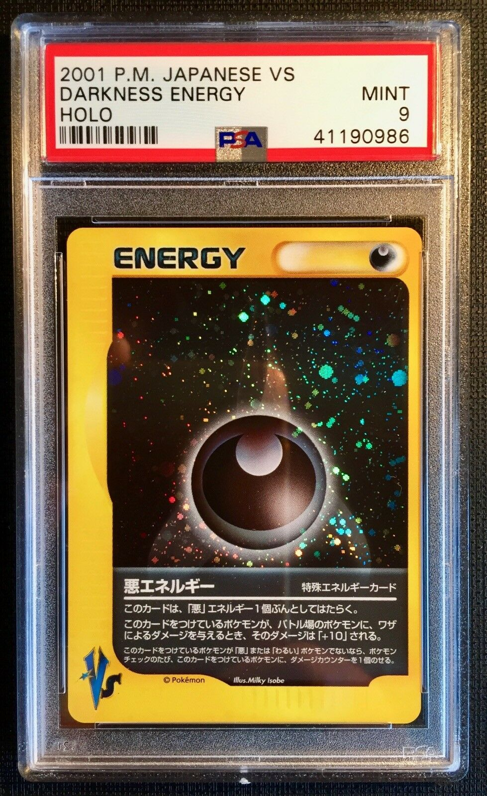 Pokemon Card PSA 9 VS Darkness Energy Holo Mint