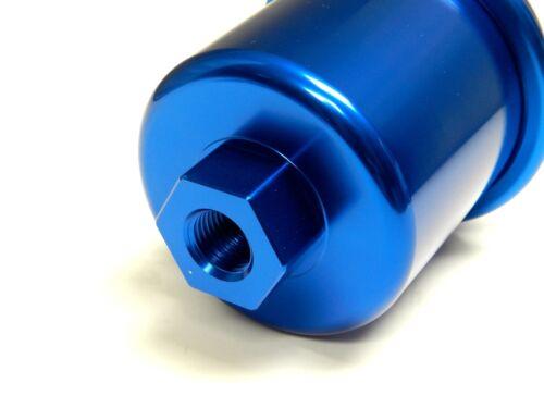 JDM EMBLEM D BLUE RACING HIGH FLOW WASHABLE FUEL FILTER FOR HONDA DEL SOL B16
