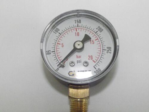 1.1//2 Dans Dia 40 mm 1//8 bsp Entrée inférieure Air manomètres multi annonce,