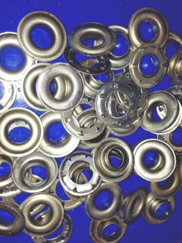 TARP 100 SETS SP4 EYELETS TENT MARINE GRADE 316 STAINLESS STEEL -BOAT COVERS