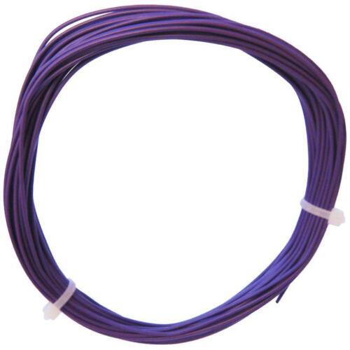 0,19 €//m 10m galon lila cable flexible 0,25mm² morado