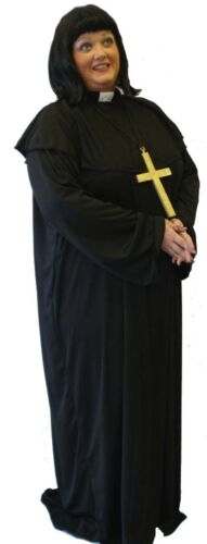 VICAR OF DIBLEY STYLE FANCY DRESS COSTUME INCLUDES WIG LADIES SIZES 10-42