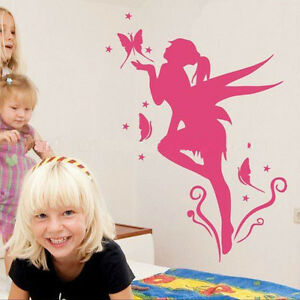 VINILO DECORATIVO PARA PARED CALIDAD EXTRA -FAIRY 01-ROSA