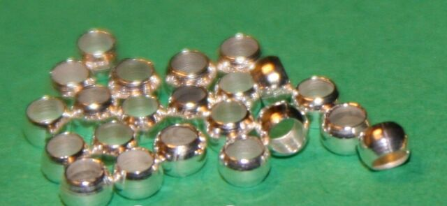 0.25oz-1oz Copper Round Silver/Gold Crimp Beads Jewellery Findings 2mm,2.5mm,3mm