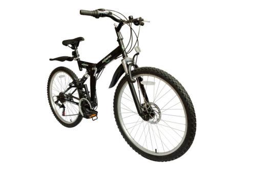 ECOSMO 26  Rad zusammenfaltbar Stahl Berg MTB Fahrrad 21SP Radsport 18.5-26sf02bl