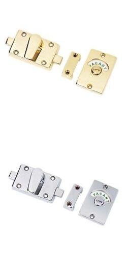 Vacant,Engaged Toilet Bathroom door lock Indicator bolt