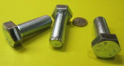 3 Units 8.8 Zinc Plated Metric M18 x 1.5  x 50 mm Length Cap Screw Bolt FT
