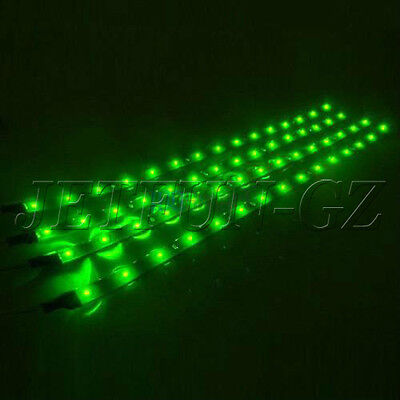 4X 30cm 15 SMD LED Car Motor Vehicle Flexible Waterproof Strip Light 12v Green