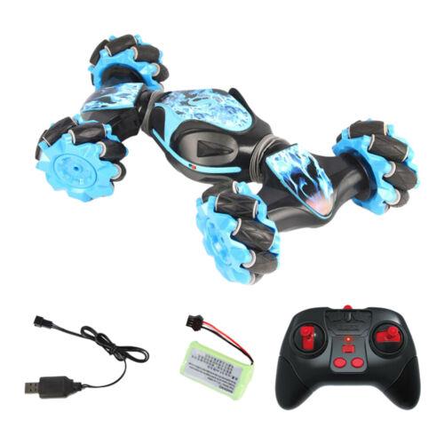 2.4G Remote Control Trick Car Gesture Torsion 4WD Drift Side Dance Driving Blue