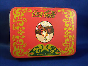 NEW Collectible COCA COLA Tin Box Playing Card Set With Score Pad /& Pencil